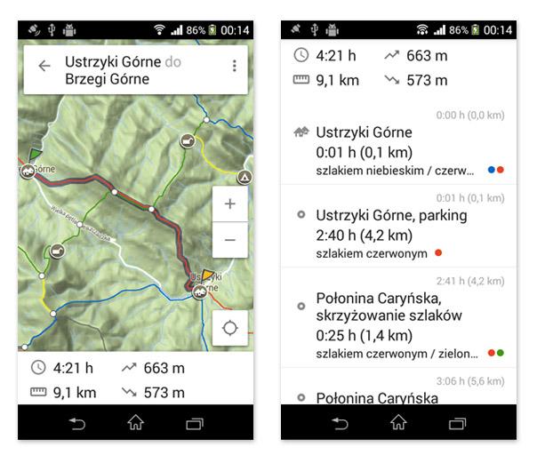 Aplikacja mobilna Mapa turystyczna na Androida