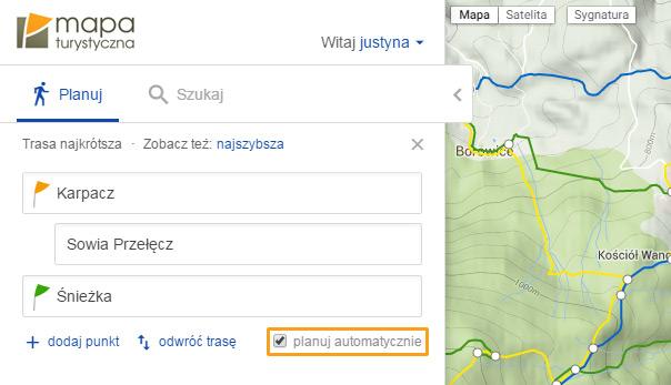 Automatyczne planowanie trasy