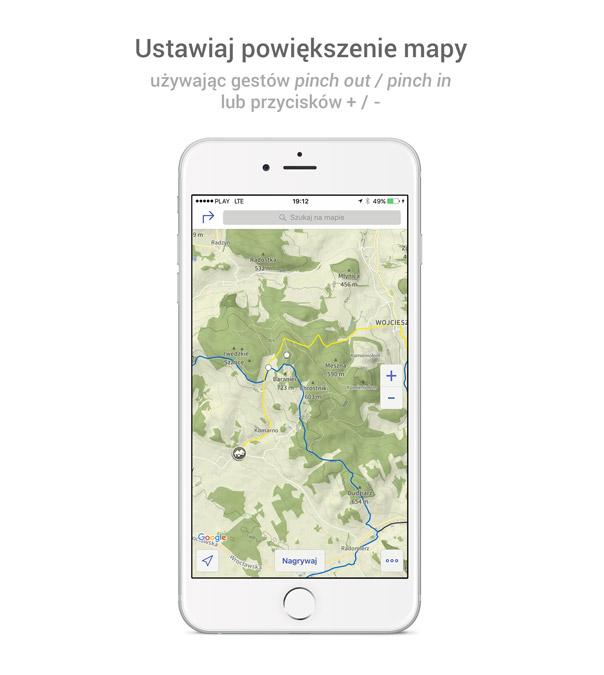 Mapa w aplikacji na iOS