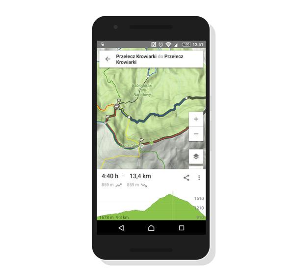 Profil wysokości trasy