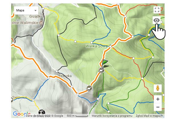 Ukrywanie śladu nagranej trasy na mapie